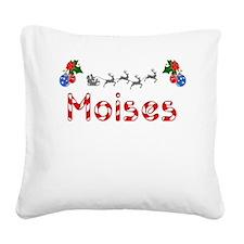 Moises, Christmas Square Canvas Pillow