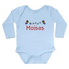 Moises, Christmas Long Sleeve Infant Bodysuit