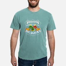 Funny Warning dragons Mens Comfort Colors Shirt