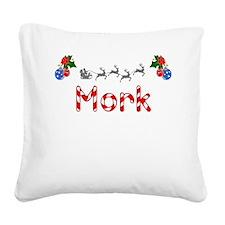 Mork, Christmas Square Canvas Pillow