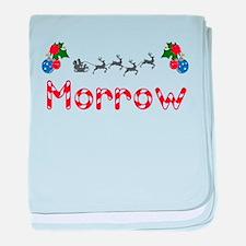 Morrow, Christmas baby blanket
