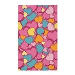 Candy Hearts Pink 3'x5' Area Rug
