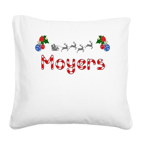 Moyers, Christmas Square Canvas Pillow