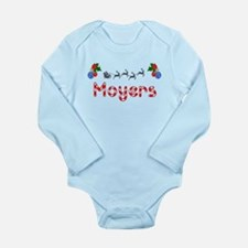 Moyers, Christmas Long Sleeve Infant Bodysuit