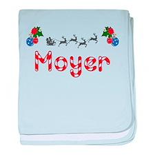 Moyer, Christmas baby blanket