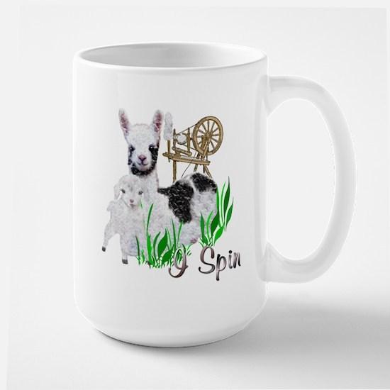 I Spin Large Mug