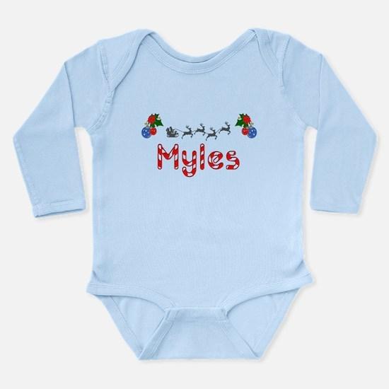 Myles, Christmas Long Sleeve Infant Bodysuit