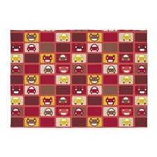 Cars Stacked Red 5'x7'Area Rug