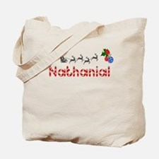 Nathanial, Christmas Tote Bag