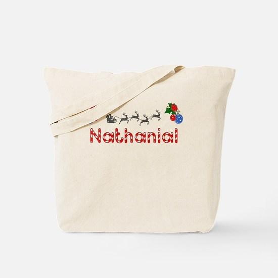 Nathanial, Christmas Tote Bag