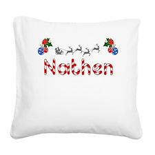 Nathen, Christmas Square Canvas Pillow