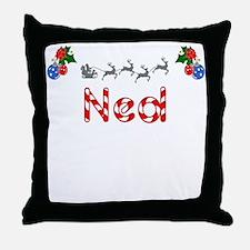 Ned, Christmas Throw Pillow