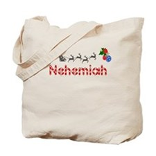 Nehemiah, Christmas Tote Bag
