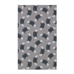 Cat Wings Grey 3'x5' Area Rug