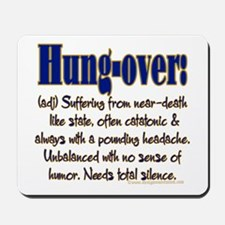 Hung-over Mousepad