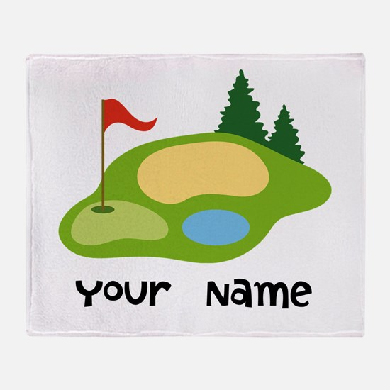 Personalized Golfing Throw Blanket