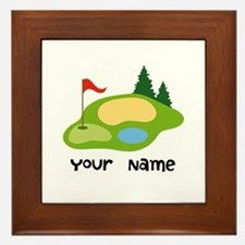 Personalized Golfing Framed Tile