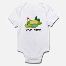 Personalized Golfing Infant Bodysuit