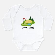 Personalized Golfing Long Sleeve Infant Bodysuit