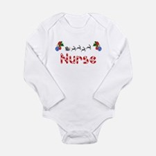 Nurse, Christmas Long Sleeve Infant Bodysuit