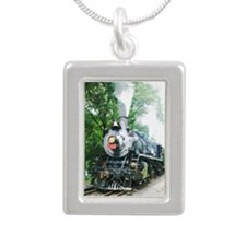 Steam Engine - Silver Portrait Necklace