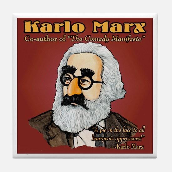 Karlo Marx Tile Coaster