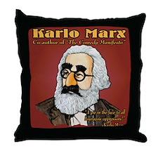 Karlo Marx Throw Pillow