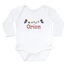Orion, Christmas Long Sleeve Infant Bodysuit