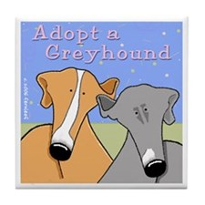 Adopt a Greyhound Tile Coaster