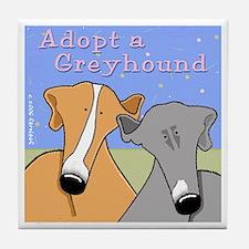 Adopt a Greyhound Tile Coaster