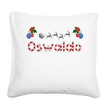Oswaldo, Christmas Square Canvas Pillow