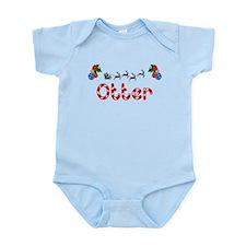 Otter, Christmas Infant Bodysuit
