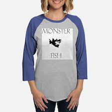 MonsterFish.png Womens Baseball Tee
