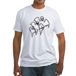 Spooky Ghosts Fitted T-Shirt