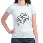 Spooky Ghosts Jr. Ringer T-Shirt