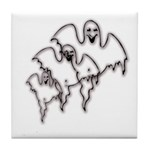 Spooky Ghosts Tile Coaster