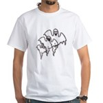 Spooky Ghosts White T-Shirt