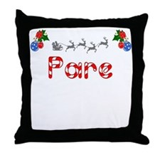 Pare, Christmas Throw Pillow
