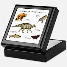 Montana State Animals Keepsake Box