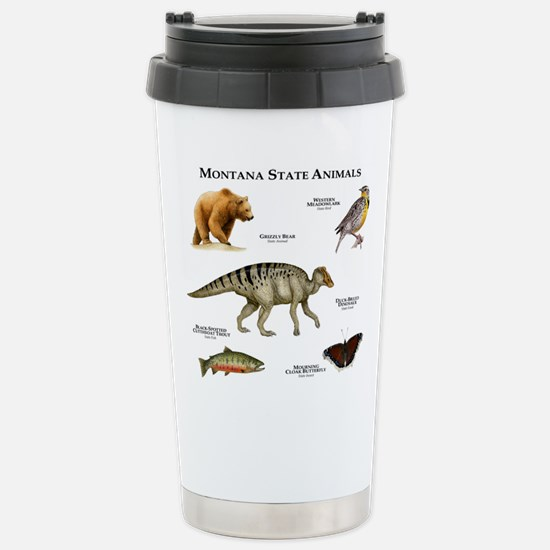 Montana State Animals Stainless Steel Travel Mug