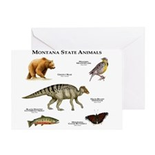 Montana State Animals Greeting Card