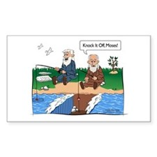 Fishing With Moses Rectangle Decal