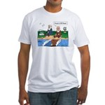 Fishing With Moses Fitted T-Shirt