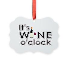It's Wine O'Clock Ornament