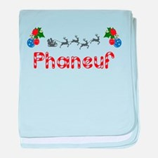 Phaneuf, Christmas baby blanket