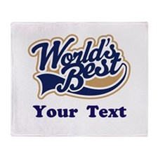 Personalized Worlds Best Throw Blanket