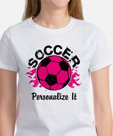 Personalized Soccer Flames Tee