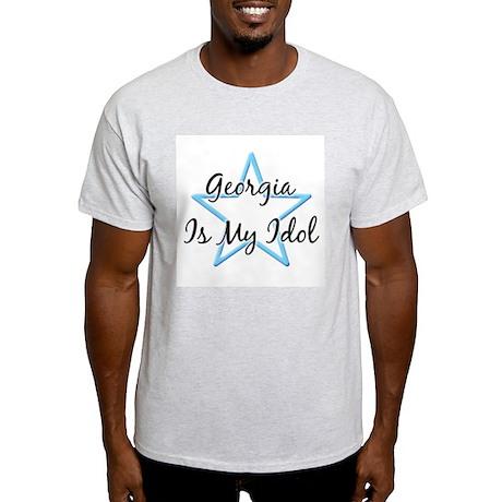 GEORGIA IS MY IDOL Ash Grey T-Shirt
