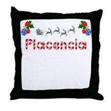 Placencia, Christmas Throw Pillow