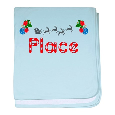 Place, Christmas baby blanket